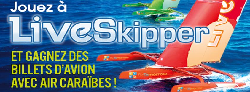 Visuel du jeu en ligne Liveskipper avec Air Caraïbes