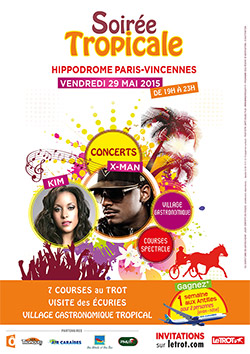 Affiche  - Soiree tropical Paris Vincennes