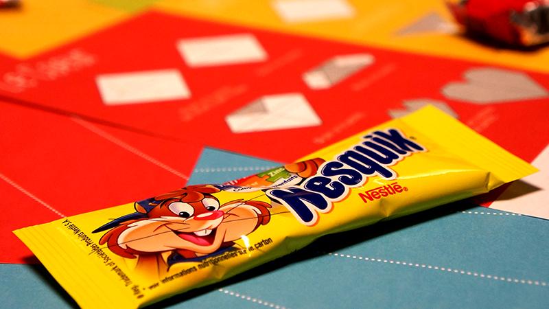La friandise Nesquik offerte par Nestlé et Air Caraïbes.