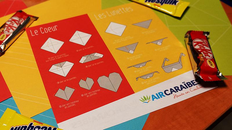 L'origami offert à l'enregistrement.