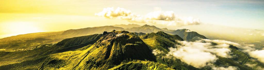 Guadeloupe Sulfureuse Par Nature Sommet Soufriere