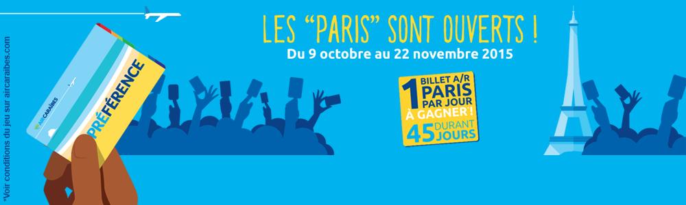 Air Caraibes - Les Paris sont ouverts