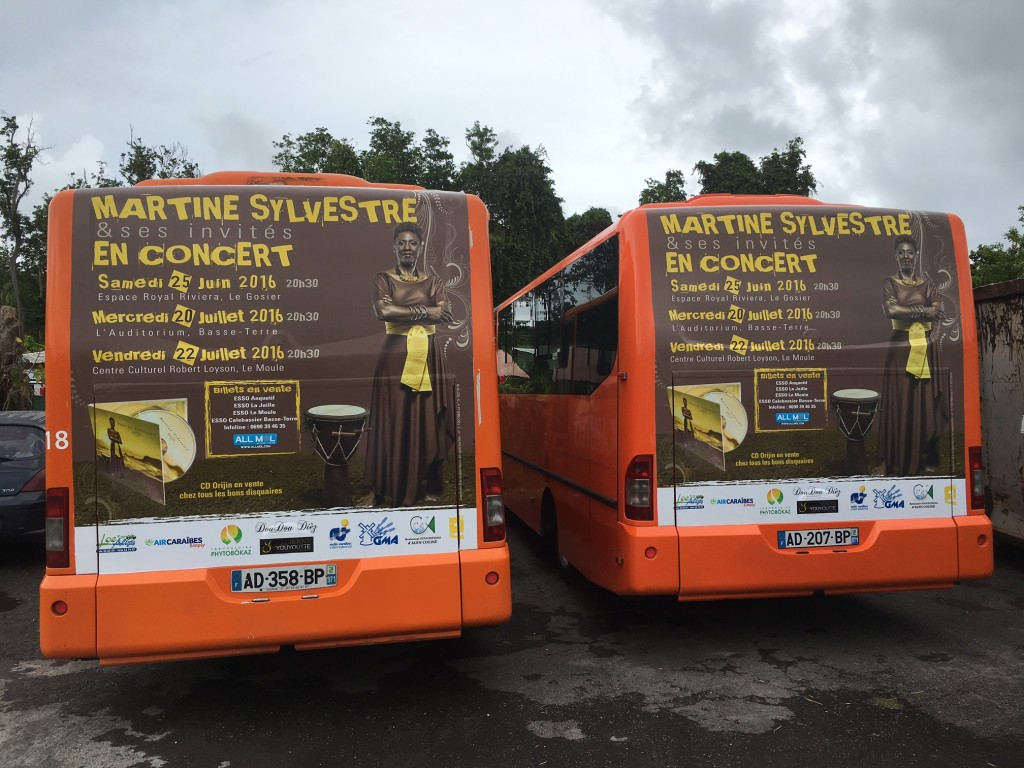 Affichage bus concerts MARTINE SYLVESTRE