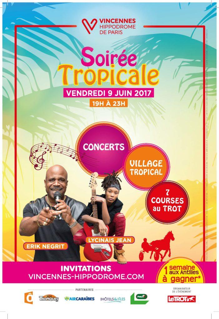 Visuel Soirée tropicale hippodrome Vincennes 2017