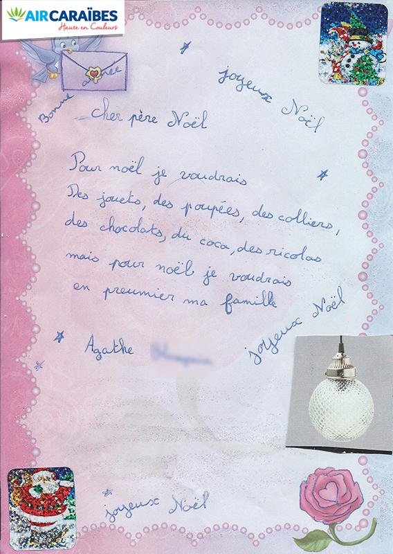 Lettre Pere Noel Disney.La Plus Belle Lettre Au Pere Noel Avec Air Caraibes
