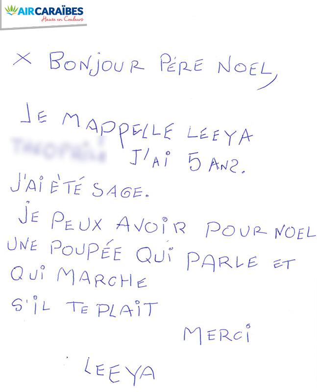 Comment Ecrire La Lettre Au Pere Noel.La Plus Belle Lettre Au Pere Noel Avec Air Caraibes