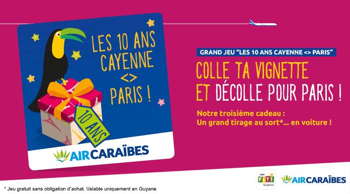 Anniversaire Paris-Cayenne air caraibes