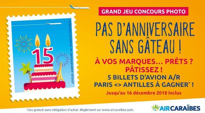 Grand Jeu Gateau D Anniversaire Blog Officiel D Air Caraibes