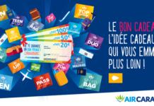 Bon-cadeau Air Caraïbes d'une valeur de 20, 50 ou 100€ avec les avantages