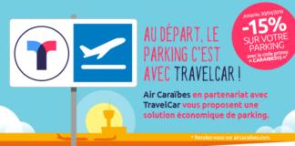 Air Caraïbes en partenariat avec TravelCar